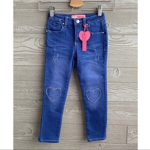 Heart patch knee skinny jeans NEW WITH TAGS